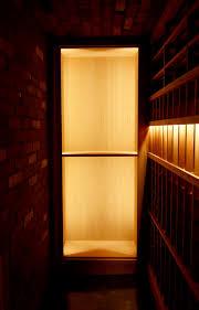 lit solid case storage bellevue custom wine cellar