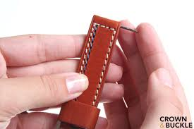 installing a leather strap