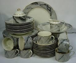 dinnerware sets 64 piece. mikasa china travertine gray pattern 64-piece set service for twelve (12) dinnerware sets 64 piece