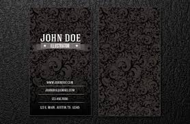 Intrincate Business Card Template Psd File Free Download