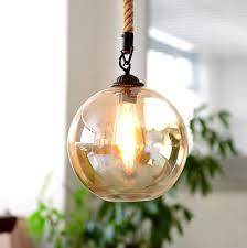 kiven glass rope globe shape pendant light glass ball lighting mondern ceiling lights