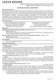 Paralegal Resume Skills Unique Paralegal Resume Template Chaseeventsco