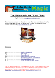 Ultimate Guitar Chord Chart Pdf Pdf The Ultimate Guitar Chord Chart Dave Zamora Rojas