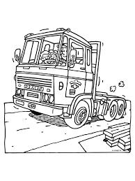 Kleurplaat Truck Kleurplatennl