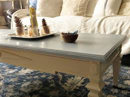 old coffee table with paint