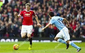 Bastian Schweinsteiger Manchester United Jesus Navas Manchester  Redaktionelles Stockfoto – Stockbild