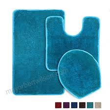 3 piece bathroom rug set seavish non slip microfiber gy soft bath shower mats contour bath