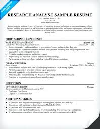 Credit Analyst Resume Unique Senior Market Research Analyst Resume Sample Objective Junior After
