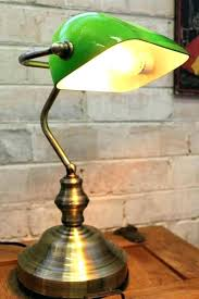 bankers desk lamp s s s green glass bankers desk lamp