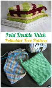 Free Crochet Potholder Patterns Adorable Crochet Fold Double Thick Potholder Free Pattern Crochet Pot