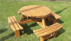 round picnic table by size handphone