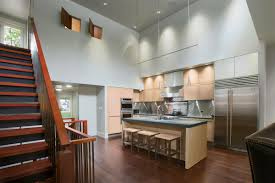 ... Ceiling Lovely Kitchen Lighting Design Using Track Lights : Surprising  Kitchen Decoration With Two Door Steel Refrigerator ...