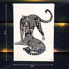 леопардовый временные татуировки женщины сексуальное боди арт рука татуировки