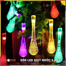 Dây đèn LED 18 Bóng Hình Giọt Nước Nhiều Màu Chống Nước - 3 mét - 220v