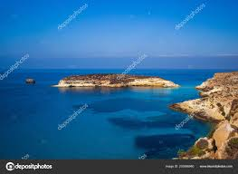 View Of The Rabbits Beach Or Conigli Island Lampedusa Stock Photo