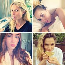 bare faced celebs the best no makeup selfies on insram