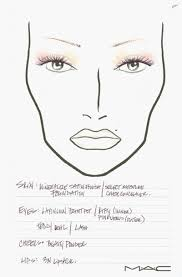 mac cosmetics n collection face charts from fashion week of makeup face charts of best of