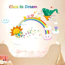 rainbow wall decals rainbow wall stickers for kid room removable vinyl wall decals poster poster wall rainbow wall decals