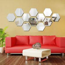 3d mirror art hexagon vinyl removable wall sticker acrylic decal home decor diy on diy 3d mirror wall art with 12pcs hexagonal silver acrylic 3d mirror wall decal decor vinyl art