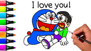 Nobita to animal planet english subbed. Doraemon And Nobita Drawing Coloring Pages For Kids How To Draw Doraem