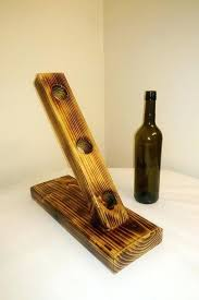 wooden wine rack holder stand handmade gift handcrafted racks