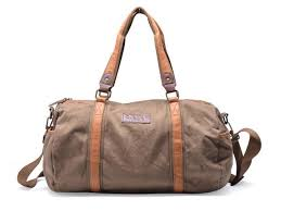 gootium 30317amg high density washed canvas leather travel duffle army green