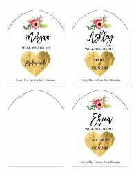 Free Printable Wine Labels Print Will You Be My Bridesmaid Free Printable Wine Labels