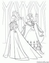 Disegni Da Colorare Elsa E Anna Nel Castello