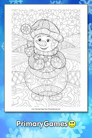 Get Snowman Coloring Pages Free Printable Images