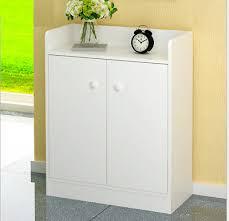 white wooden shoe cabinet storage rack unit living room home cupboard furniture
