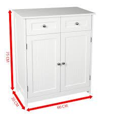 Priano Bathroom Cabinet 2 Drawer 2 Door Storage Cupboard Unit ...
