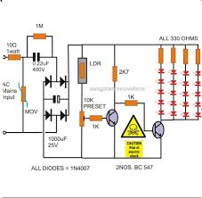 how to make a simple led automatic day night lamp circuit homemade how to make a simple led automatic day night lamp circuit homemade circuit projects electrical