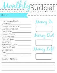Printable Budgeting Sheets Free Printable Budget Worksheets Uk Download Them Or Print