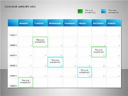 Project Calendar Blue Presentation Template For Google