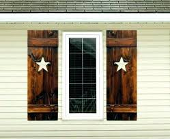 Rustic Window Shutters Wood Shutter Interior Exterior Decorative Indoor  Mirror With Shu