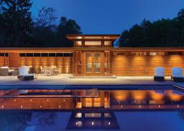 the adelman house designed by frank lloyd wright has been renovated by kubala washatko architects