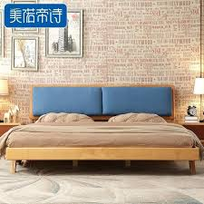 oak wood bed futon m pure solid double modern minimalist bedroom furniture in wooden sofa bed latest wood frame with picture futon