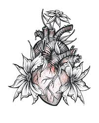 Flowers In My Heart Tattoo Design Love Drawing Fl Flickr
