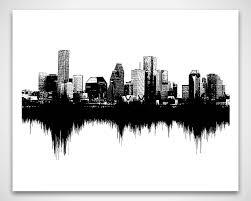 Sound By Design Houston Houston Skyline Art Sounds Of The City Sound Wave