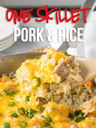 See recipes for leftover roast pork with vegetable chow mein too. Cheesy Pork And Rice Skillet I Wash You Dry