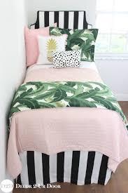 dorm room bedding sets twin xl looks palm leaf black white blush pink quilt designer set campus down comforter college for guys shabby chic
