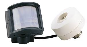 amertac outdoor motion activated light control lighting with adjule off times sensor adapter designs for size