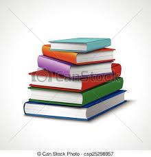 books stack realistic csp25298957