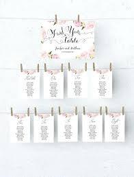 Wedding Seating Chart Template Printable Didex Me