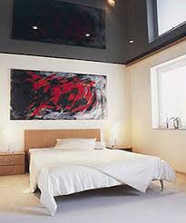 black and white bedroom decorating ideas. Black And White Bedroom Decor With Red Wall Artwork Black Decorating Ideas C