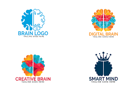 Set of Brain logo design.