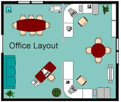 front office layout. Hmm, Should The Be Some Separation Between Front Office And Back? Small Layout - Wide U-shaped Desk, Then Shared Table In Center. L