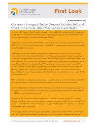 Payroll Calculator California 2020 First Look Governors Inaugural Budget Proposal Includes