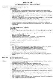 Download Recreation Therapist Resume Sample as Image file