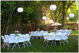 simple and lovely graduation party decoration idea - hanging tissue paper  pom